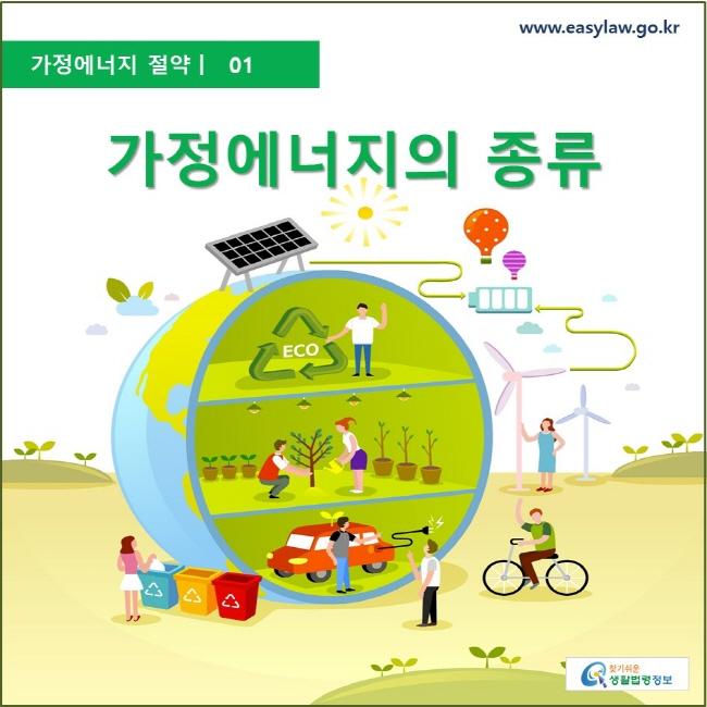 가정에너지절약  ㅣ  01 가정에너지의 종류 www.easylaw.go.kr 찾기 쉬운 생활법령정보 로고